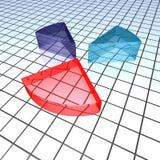 Grafico a torta sull'illustrazione del quadro televisivo Fotografia Stock