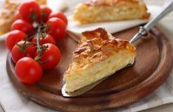 Grafico a torta turco tradizionale del formaggio di feta Fotografia Stock