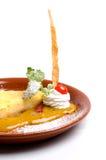 Grafico a torta Yummy del limone Fotografie Stock