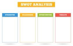 Grafico variopinto semplice per analisi dello SWOT Immagine Stock