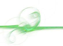 Grafico verde di affari Fotografia Stock