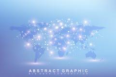 Graficzna abstrakcjonistyczna tło komunikacja Duży dane kompleks z mieszankami Obrazy Stock