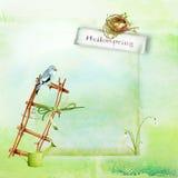 Graficzna ilustracja wiosny papierowy scrapbooking Ilustracji