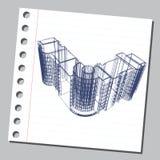 Graficzna ilustracja z dekoracyjną architekturą 22 Zdjęcia Stock
