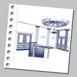 Graficzna ilustracja z dekoracyjną architekturą 25 Obraz Royalty Free
