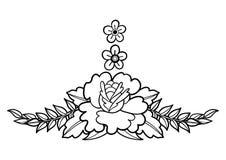 Graficzna kwiecista winieta Obrazy Royalty Free
