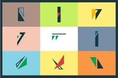Graficzna logo kolekcja Zdjęcia Stock