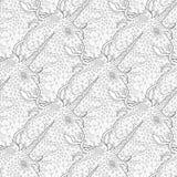 Graficzna niska poli- jednorożec Zdjęcia Royalty Free