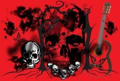 Graficzna sztuka na czaszce Fotografia Royalty Free
