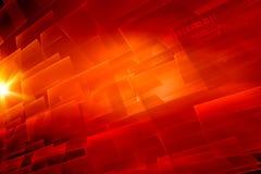 Graficzne abstrakcjonistyczne cyfrowe czerwone tematu tła pojęcia serie ilustracja wektor