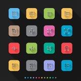 Graficzne elementu mieszkania stylu ikony ustawiają 2 - Wektorowa ilustracja dla sieci & wiszącej ozdoby Zdjęcia Royalty Free