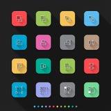 Graficzne elementu mieszkania stylu ikony ustawiają 3 - Wektorowa ilustracja dla sieci & wiszącej ozdoby Zdjęcia Royalty Free