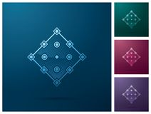 Graficznego projekta element, kwadratowy kotwicowego punktu ikony projekt Fotografia Royalty Free