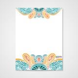 Graficznego projekta letterhead z ręka rysującym ornamentem Obraz Stock