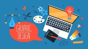 graficznego projekta pojęcie ilustracja wektor