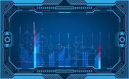 Graficznej prezentaci komputerowy panel, monitor, rama, kontrolny pokaz, władzy technologia ilustracja royalty ilustracja