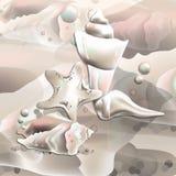 Graficzni oceanów Seashells Zdjęcia Stock