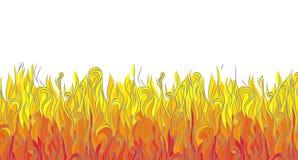 Graficzny abstrakta ogień dolna strona ilustracja wektor Fotografia Stock