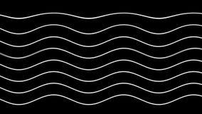 Graficzny czarny tło z spływaniem wyginał się białe linie royalty ilustracja