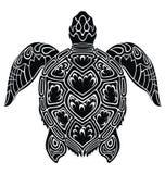 Graficzny denny żółw ilustracji