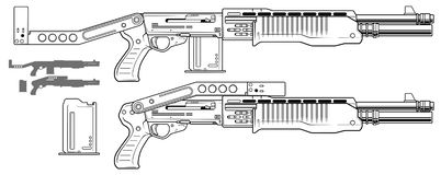 Graficzny flinta karabin z ammo klamerką ilustracja wektor