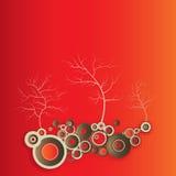 graficzny ilustracyjny drzewo Obraz Stock