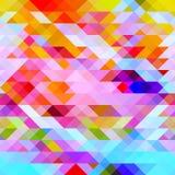 Graficzny jaskrawy abstrakcjonistyczny tło z trójbokami zdjęcia stock