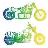 Graficzny projekt motocykle Obrazy Royalty Free