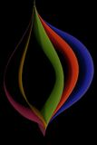 Graficzny projekt pięć prześcieradeł barwiony papier Fotografia Royalty Free
