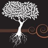 graficzny retro drzewo Obrazy Stock