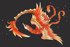 Graficzny seahorse feniksa hybryd Obraz Stock
