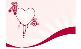 Graficzny serce Zdjęcia Stock