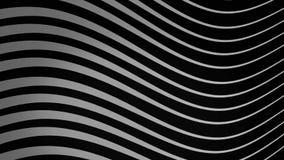 Graficzny t?o sp?ywanie wyk?ada w dynamicznym falowego ruchu bielu na czarnej, bezszwowej p?tli, animacja Monochrom fale royalty ilustracja