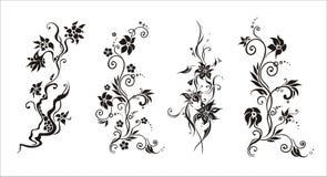Graficzny wektorowy abstrakcjonistyczny kwiatu ornament Zdjęcia Royalty Free