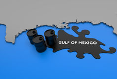 graficzny zatoki Mexico olej Obrazy Royalty Free