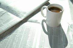 Grafiek 2 van de koffie en van de voorraad Stock Foto's