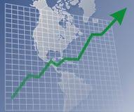 Grafiek Amerika omhoog Stock Afbeeldingen