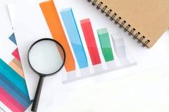 Grafiek bedrijfsanalyseconcept stock foto