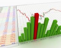 Grafiek, diagram Royalty-vrije Stock Afbeeldingen
