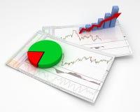Grafiek, diagram Royalty-vrije Stock Foto