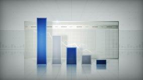 Grafiek die onderaan Blauw neigen vector illustratie