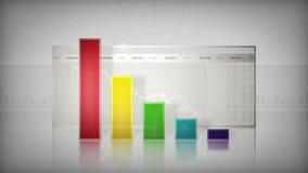 Grafiek die onderaan Kleur neigen stock illustratie