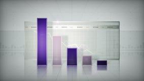 Grafiek die onderaan Purple neigen stock illustratie