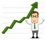 Grafiek die postively stijgen Royalty-vrije Stock Foto