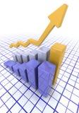 Grafiek die toenemende winsten toont stock illustratie