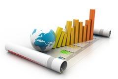 Grafiek en grafiek Stock Afbeelding