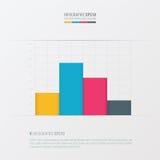 Grafiek en infographic ontwerp gele, blauwe, roze kleur Stock Foto's