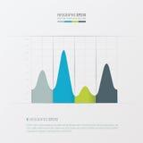 Grafiek en infographic ontwerp Groene, blauwe, grijze kleur Stock Afbeelding