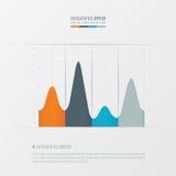 Grafiek en infographic ontwerp Oranje, blauwe, grijze kleur Royalty-vrije Stock Fotografie