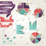 Grafiek en linten Royalty-vrije Stock Afbeelding